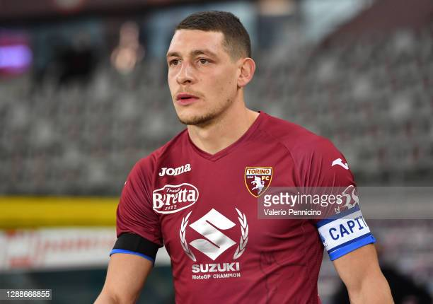 Andrea Belotti of Torino F.C. Wears a special edition shirt for the Suzuki MotoGP Champions during the Serie A match between Torino FC and UC...