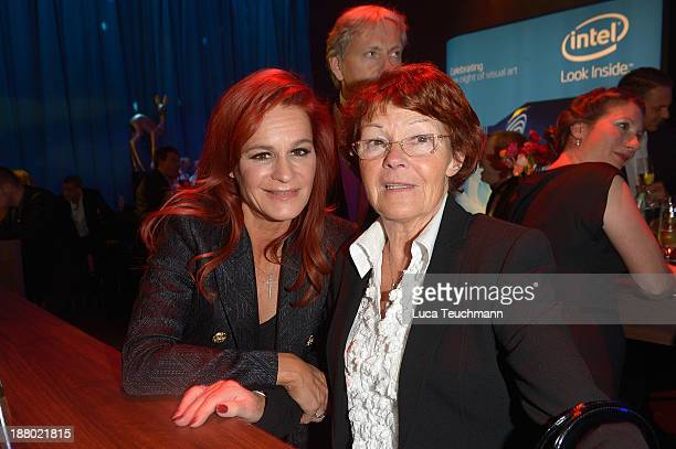 Andrea Berg and Helga Zellen attend the Bambi Awards 2013 After Show Party at Stage Theater on November 14 2013 in Berlin Germany