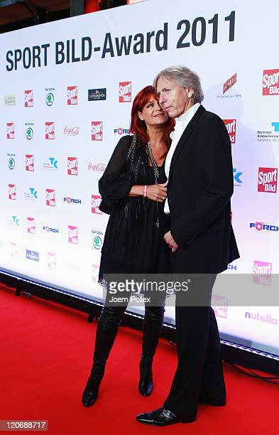 Andrea Berg and her husband Uli Ferber attend the Sport Bild Award 2011 at the Fischauktionshalle on August 8 2011 in Hamburg Germany