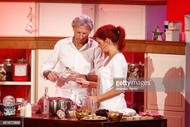 Andrea Berg and her husband Uli Ferber attend the 'Willkommen bei Carmen Nebel' show at Volkswagen Halle on November 23, 2013 in Braunschweig,...