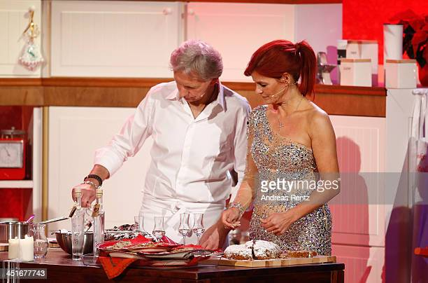 Andrea Berg and her husband Uli Ferber attend the 'Willkommen bei Carmen Nebel' show at Volkswagen Halle on November 23 2013 in Braunschweig Germany
