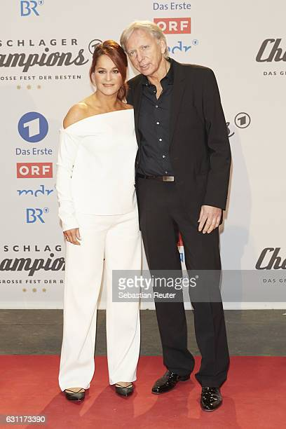 Andrea Berg and her husband Uli, Ulrich Ferber attend the 'Das grosse Fest der Besten' tv show at Velodrom on January 7, 2017 in Berlin, Germany.