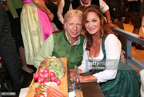 Andrea Berg and her husband Uli, Ulrich Ferber during the opening of the oktoberfest 2016 at the Schottenhamel beer tent at Theresienwiese on...