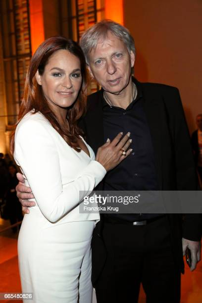 Andrea Berg and her husband Ulrich Ferber attend the Echo award after show party on April 6, 2017 in Berlin, Germany.