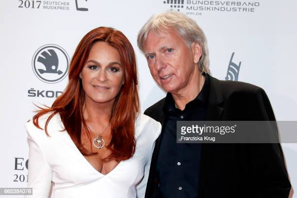 Andrea Berg and her husband Ulrich Ferber attend the Echo award red carpet on April 6, 2017 in Berlin, Germany.