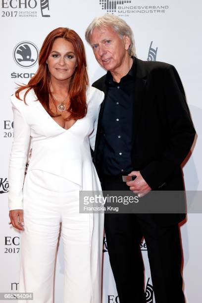 Andrea Berg and her husband Ulrich Ferber attend the Echo award red carpet on April 6 2017 in Berlin Germany