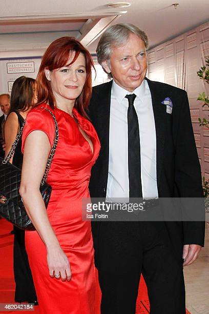 Andrea Berg and her husband Ulrich Ferber attend the German Media Award 2015 on January 23 2015 in BadenBaden Germany