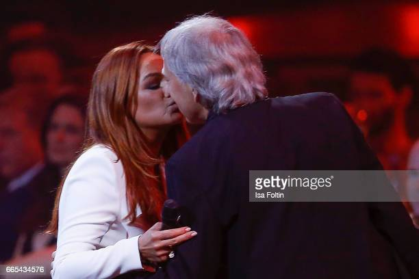 Andrea Berg and her husband Ulrich Ferber during at the Echo award show on April 6, 2017 in Berlin, Germany.