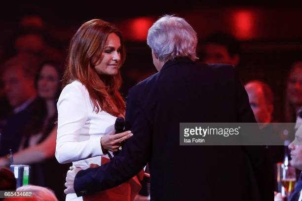 Andrea Berg and her husband Ulrich Ferber during at the Echo award show on April 6 2017 in Berlin Germany