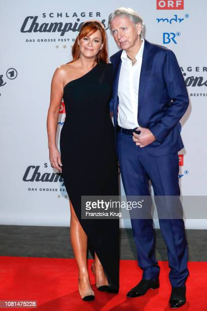 Andrea Berg and her husband Ulrich Ferber during the television show 'Schlagerchampions Das grosse Fest der Besten' at Velodrom on January 12 2019 in...