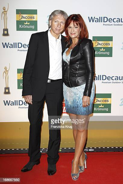 Andrea Berg and husband Uli Ferber In The ceremony The Golden 'Bild Der Frau' Awards In Ullstein-Halle in Berlin