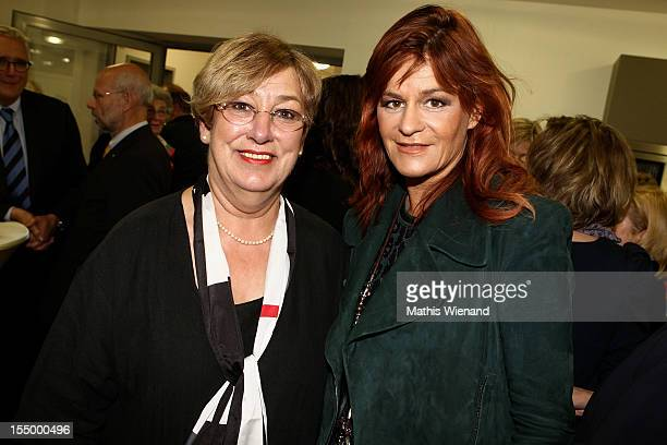 Andrea Berg and Karin Meincke attend the Stups Childrens Center Opening on October 30 2012 in Krefeld Germany