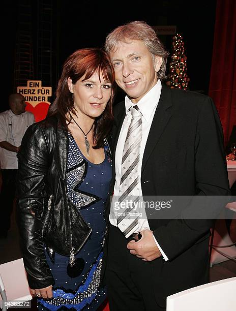 Andrea Berg and Uli Ferber attend the aftershow party of 'Ein Herz fuer Kinder' Gala at Studio 20 at Adlershof on December 12, 2009 in Berlin,...