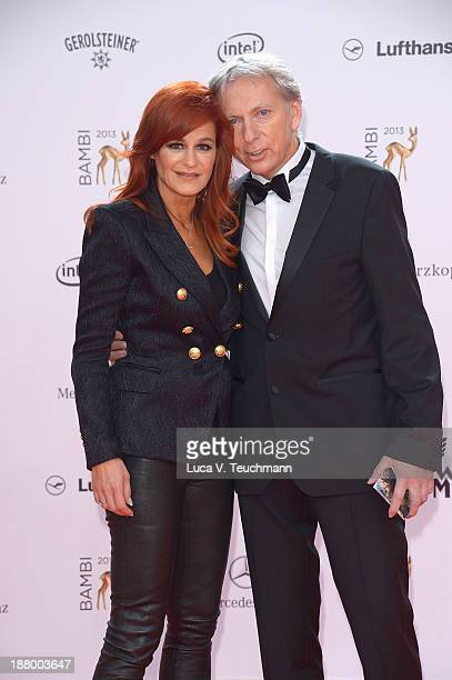 Andrea Berg and Uli Ferber attend the Bambi Awards 2013 at Stage Theater on November 14 2013 in Berlin Germany