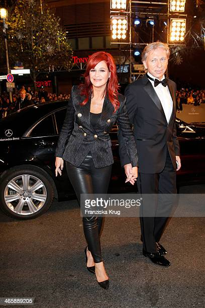 Andrea Berg and Uli Ferber attend the Bambi Awards 2013 at Stage Theater on November 14, 2013 in Berlin, Germany.