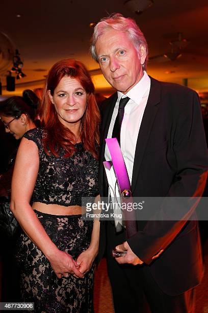 Andrea Berg and Uli Ferber attend the Echo Award 2015 - After Show Party on March 26, 2015 in Berlin, Germany.