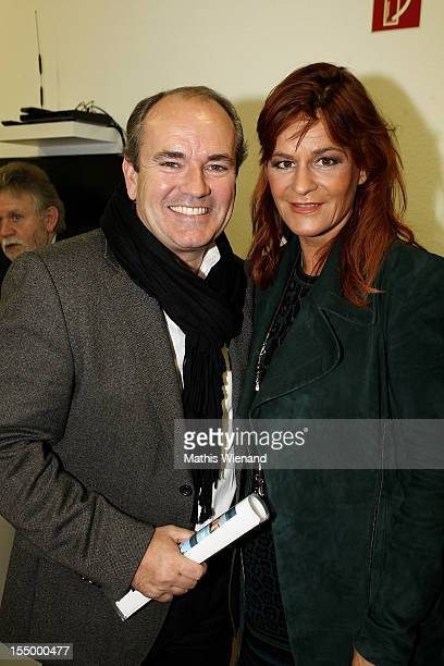 Andrea Berg and Wolfgang Kons attend the Stups Childrens Center Opening on October 30 2012 in Krefeld Germany