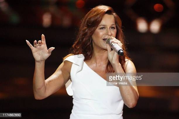 "Andrea Berg at the charity gala ""Willkommen bei Carmen Nebel"" at TUI Arena on September 14, 2019 in Hanover, Germany."