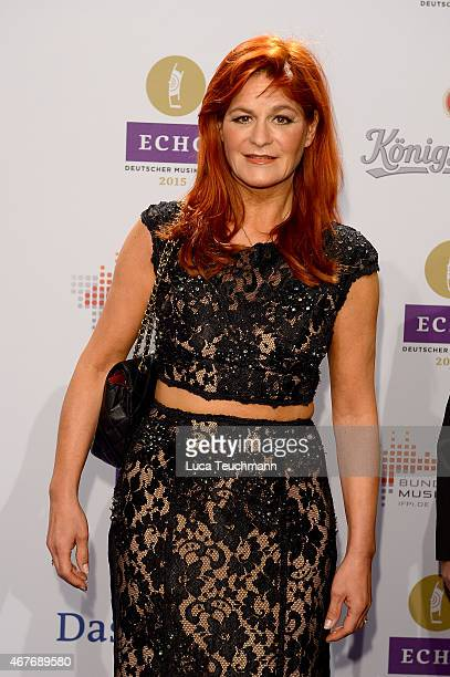 Andrea Berg attend the Echo Award 2015 Red Carpet Arrivals on March 26 2015 in Berlin Germany