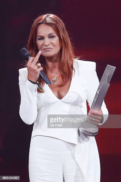 Andrea Berg during at the Echo award show on April 6, 2017 in Berlin, Germany.