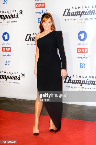 Andrea Berg during the television show 'Schlagerchampions Das grosse Fest der Besten' at Velodrom on January 12 2019 in Berlin Germany