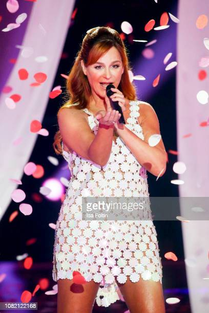 Andrea Berg during the television show 'Schlagerchampions - Das grosse Fest der Besten' at Velodrom on January 12, 2019 in Berlin, Germany.