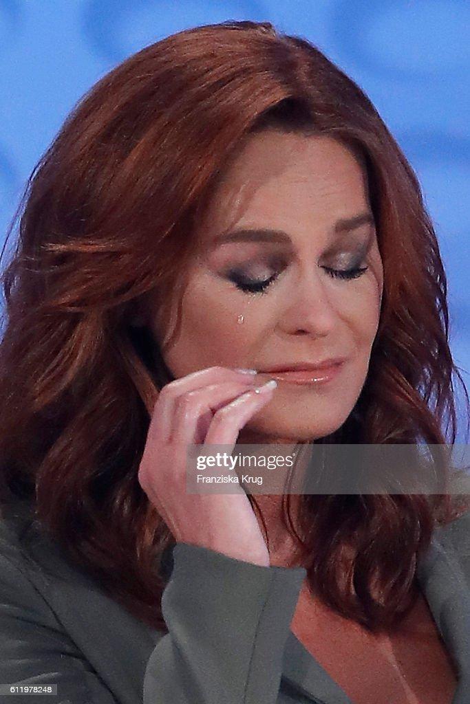 Andrea Berg during the tv show 'Willkommen bei Carmen Nebel' at Velodrom on October 1, 2016 in Berlin, Germany.