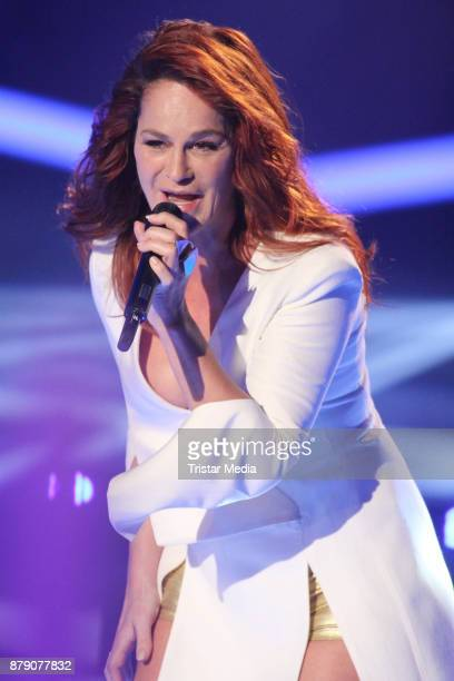 Andrea Berg performs at the TV Show 'Die Schlager des Jahres 2017' on November 25 2017 in Suhl Germany