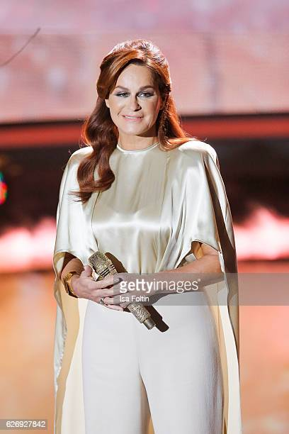 Andrea Berg performs at the tv show 'Die schoensten Weihnachtshits' on November 30 2016 in Munich Germany
