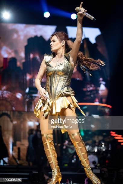 Andrea Berg performs on stage during the MOSAIK Live Arena Tour at Lanxess Arena on January 18, 2020 in Cologne, Germany.