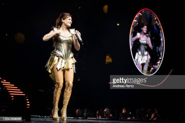 Andrea Berg performs on stage during the MOSAIK Live Arena Tour at Lanxess Arena on January 18 2020 in Cologne Germany