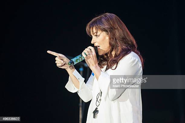 Andrea Berg performs onstage during the 'SchlagerStarparade' at the KoenigPilsenerArena on November 8 2015 in Oberhausen Germany