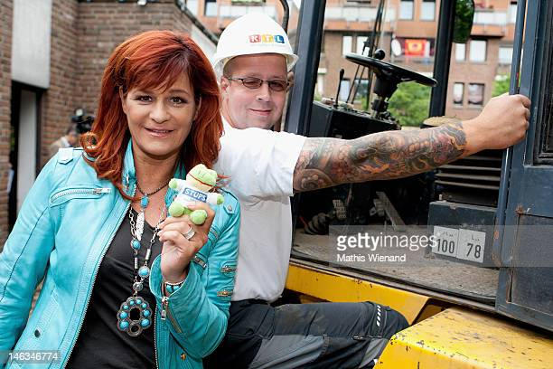 Andrea Berg visits the Stups Children Center for the RTL Charity Marathon on June 13 2012 in Krefeld Germany