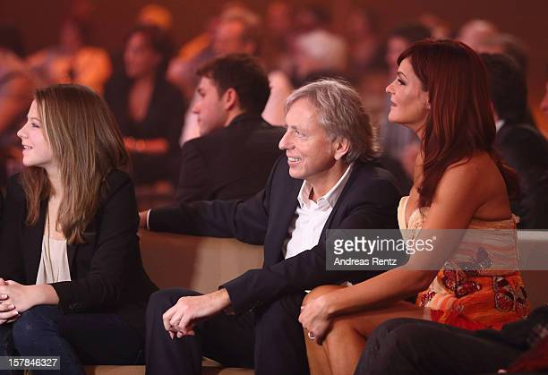 Andrea Berg with her husband Uli Ferber and daughter Lena Maria attend the Andrea Berg 'Die 20 Jahre Show' at Baden Arena on December 6 2012 in...