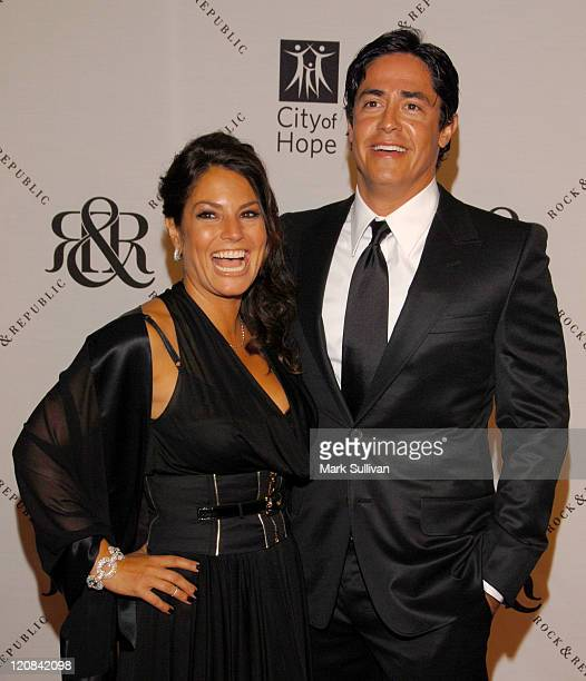 Andrea Bernholtz and Michael Ball during Rock & Republic - City Of Hope Event at Beverly Wilshire Four Seasons Hotel – The Ballroom in Beverly Hills,...