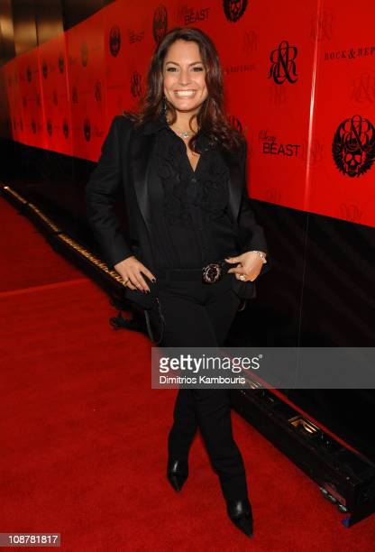 Andrea Bernholtz during Mercedes-Benz Fashion Week Fall 2007 - Rock & Republic - Arrivals and Inside at Cipriani in New York City, New York, United...