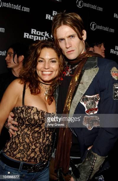 Andrea Bernholtz of Rock and Republic and Josh Todd