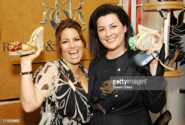 Andrea Bernholtz, President of Rock and Republic and Maggie Finnernan, Vice President of Footwear and Accessories Rock and Republic