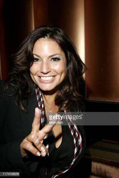 Andrea Bernholtz, President of Rock and Republic during Olympus Fashion Week Spring 2007 - Rock & Republic - After Party at Tenjune in New York City,...