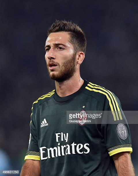 Andrea Bertolacci of AC Milan during the Serie A match between SS Lazio and AC Milan at Stadio Olimpico on November 1 2015 in Rome Italy