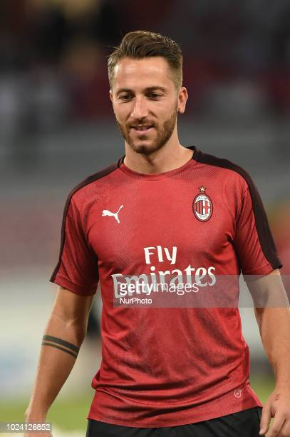Andrea Bertolacci of AC Milan during the Serie A TIM match between SSC Napoli and AC Milan at Stadio San Paolo Naples Italy on 25 August 2018