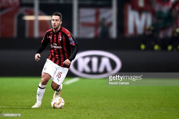 Andrea Bertolacci of AC Milan in action during the UEFA Europa League football match between AC Milan and F91 Dudelange AC Milan won 52 over F91...