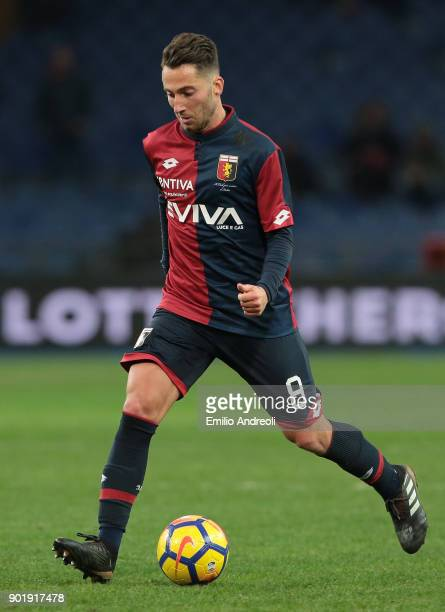 Andrea Bertolacci of Genoa CFC in action during the serie A match between Genoa CFC and US Sassuolo at Stadio Luigi Ferraris on January 6 2018 in...