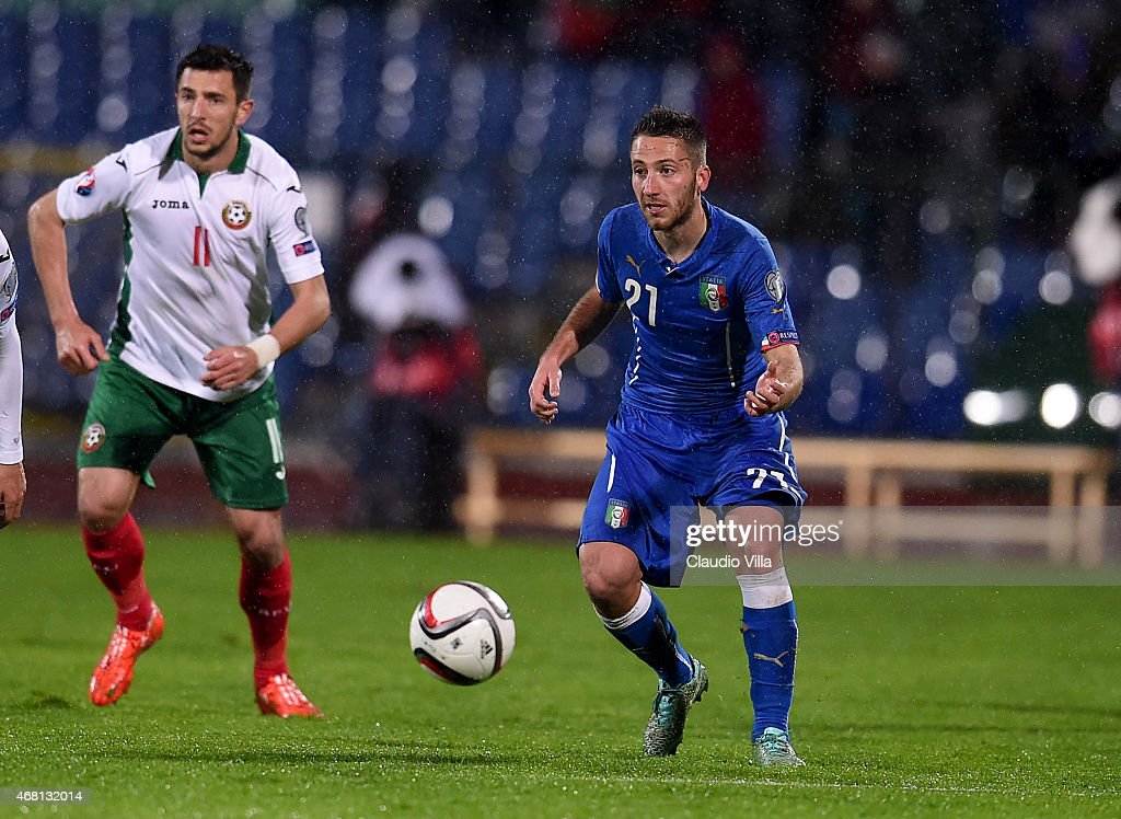 Andrea Bertolacci of Italy #21 during the Euro 2016 Qualifier match between Bulgaria and Italy at Vasil Levski National Stadium on March 28, 2015 in Sofia, Bulgaria.