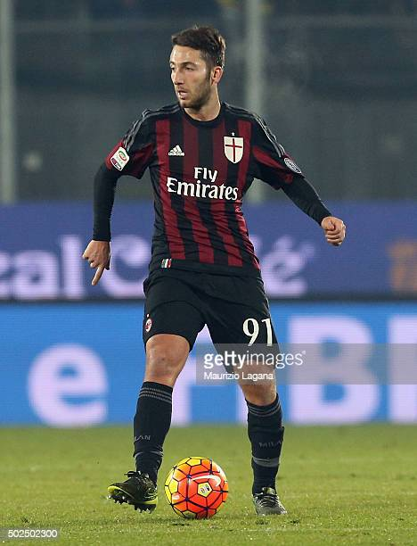 Andrea Bertolacci of Milan during the Serie A match between Frosinone Calcio and AC Milan at Stadio Matusa on December 20 2015 in Frosinone Italy