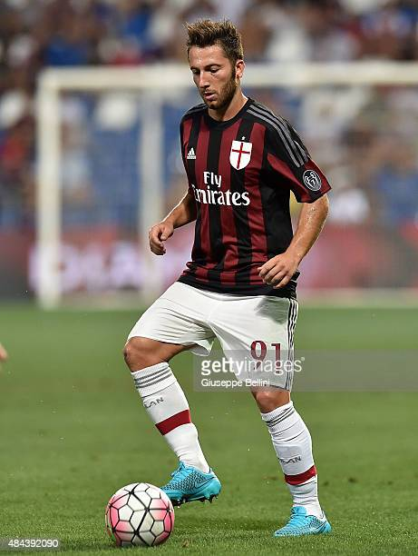 Andrea Bertolacci of Milan in action during the TIM preseason tournament match between AC Milan and FC Internazionale at Mapei Stadium Città del...