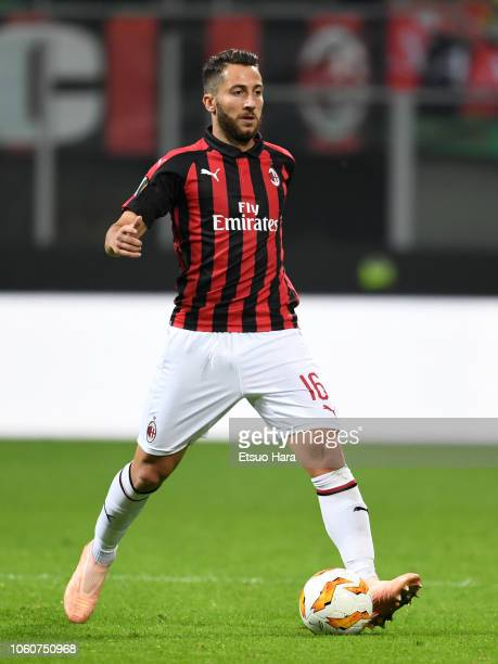 Andrea Bertolacci of Milan in action during the UEFA Europa League Group F match between AC Milan and Real Betis at Stadio Giuseppe Meazza on October...