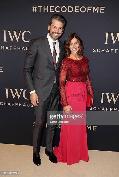 Andrea Berton and Sandra Berton attend the IWC Schaffhausen Decoding the Beauty of Time Gala Dinner during the launch of the Da Vinci Novelties from...