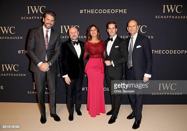 Andrea Berton IWC CEO Georges Kern Sandra Berton Christoph GraingerHerr and Beppe Ambrosini attend the IWC Schaffhausen Decoding the Beauty of Time...