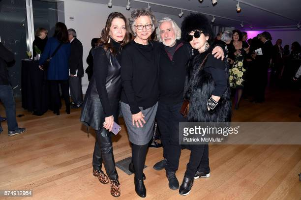 Andrea Blanch Alicia Longwell Gideon Lewin and Joanna Mastroianni attend Barbara Tober hosts a party for AVEDON Something Personal at Museum of Art...